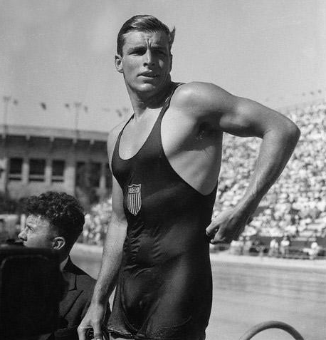Buster Crabbe, Great grandfather of UM recruit, Nick Holt VI