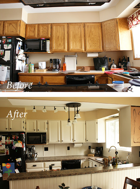 My Inexpensive DIY Kitchen Remodel The Before And After Re Use It