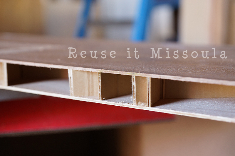 spacers in hollow core doors. Reuse it Missoula & Repurposing Hollow Core Doors Into Shelves | Reuse it Missoula